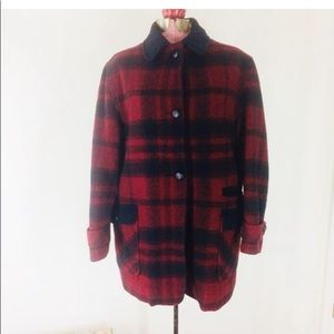 Vintage L.L.Bean Womens Plaid Car Coat
